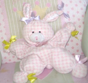 Bunny BB bedecked in bows for blog