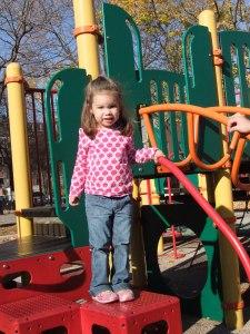 Standing at playground